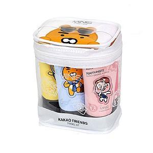 (先払いのみ) 韓国キャラクターグッズ KAKAO FRIENDS(カカオフレンズ) トラベルセット コンパクト(5種/シャンプー、歯磨き粉など)