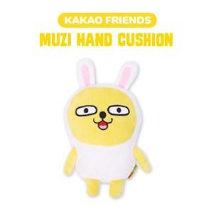 (先払いのみ) 韓国キャラクターグッズ KAKAO FRIENDS(カカオフレンズ) MUZI ムジ 昼寝 ハンド クッション ぬいぐるみ (17x26cm)