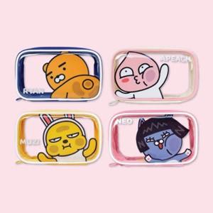 (先払いのみ) 韓国キャラクターグッズ KAKAO FRIENDS(カカオフレンズ) 透明 ポーチ ミディアム(4種1択)