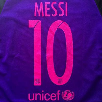 4dce55bb4d45d7 子供用 K134 17 バルセロナ MESSI*10 メッシ 紫 ゲームシャツ パンツ付 /サッカー