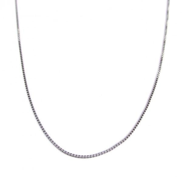 fe57e97872 チェーン メンズ レディース シルバー 銀 SBG ベネチアンチェーン ネックレス 60cm 太さ1mm SBG-289-siv  人気ブランドSBG(エスビージー)銀ベネチアンチェーン60cm。