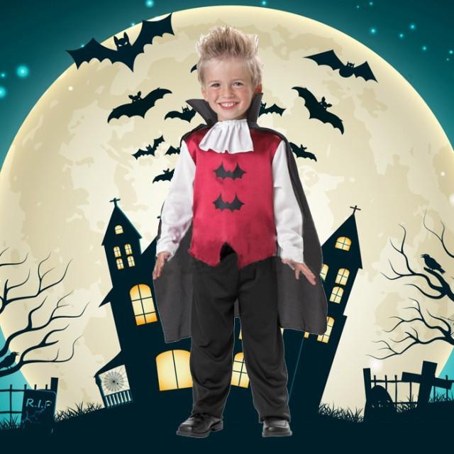 ハロウィン衣装 子供 ゾンビ吸血鬼 ヴァンパイア コウモリ コスプレ 吸血鬼 ドラキュラ ハロウィン キッズ 男の子 コスチューム 悪魔