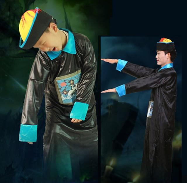 ハロウィン 衣装 子供 大人 コスプレ ゾンビ 清の時代 中国 演出服 舞台 ステージ衣装 ハロウィンコスチューム 死体