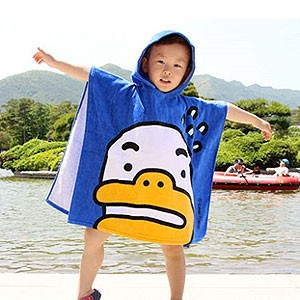 (先払いのみ) 韓国キャラクターグッズ KAKAO FRIENDS(カカオフレンズ) ビーチ フード ガウン 60x155cm(5種1択)