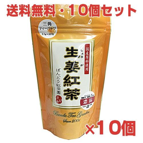 国産生姜使用 生姜紅茶(しょうが紅茶)2.7g×20袋×10個国産ショウガ紅茶