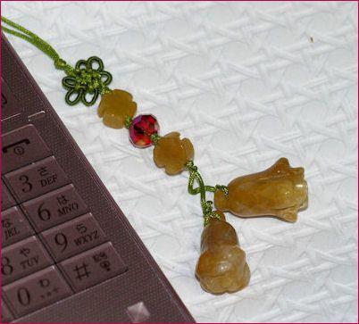 携帯ストラップ★天然石彫刻★携帯電話グッズ★中国雑貨小物