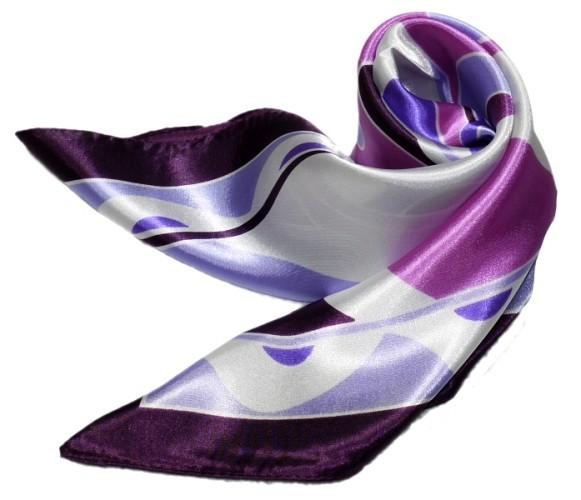かわいいシルク調スカーフ 中判 60cm正方形スカーフリボン 事務服 企業制服スカーフ  手首に、デニムに、バッグに、無限に使える人気