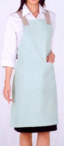 5-601-603 エプロン 男女兼用 全2色 (厨房 調理 白衣 サービスユニフォーム モンブラン MONTBLANC)