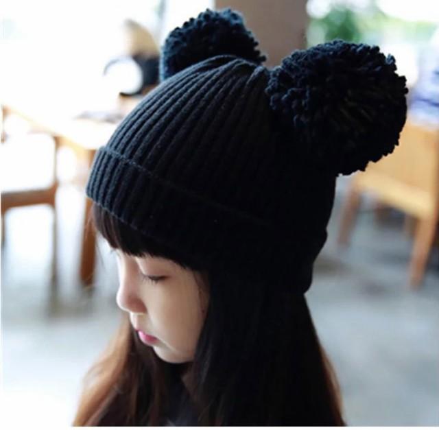 【メール便送料無料】子供用帽子 ニット帽 ボンボン キッズ 帽子 子供 ニット帽子 こども 子供帽子 ぼうし ニット帽 キッズ