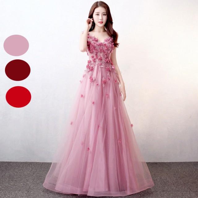 41d7f06c2cf67 2018新作 パーティドレス ロングドレス ウェディングドレス お呼ばれ ピアノ 発表会 フォーマル 演奏会 結婚式ドレス