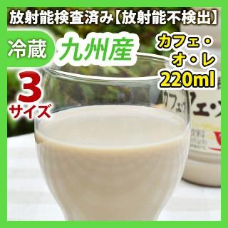 九州産カフェ・オ・レ220ml 同梱サイズ3【カフェオレ】【コーヒー牛乳】【安心・安全の放射能検査済み!ほっぺるデーリィセット同時購入