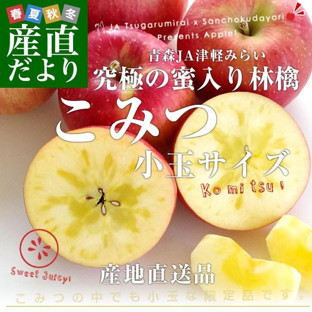 青森県より産地直送 JA津軽みらい 蜜入りりんご「こみつ」 小玉 2キロ (12玉から13玉) 送料無料 林檎 りんご 産直だより