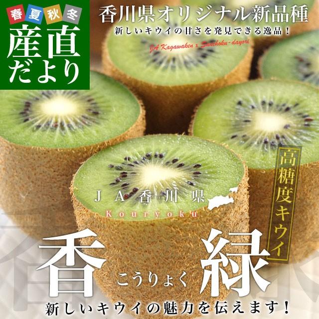 香川県より産地直送 JA香川県 キウイフルーツ 香緑(こうりょく)  約3キロ (20から35玉前後) 送料無料 産直だより