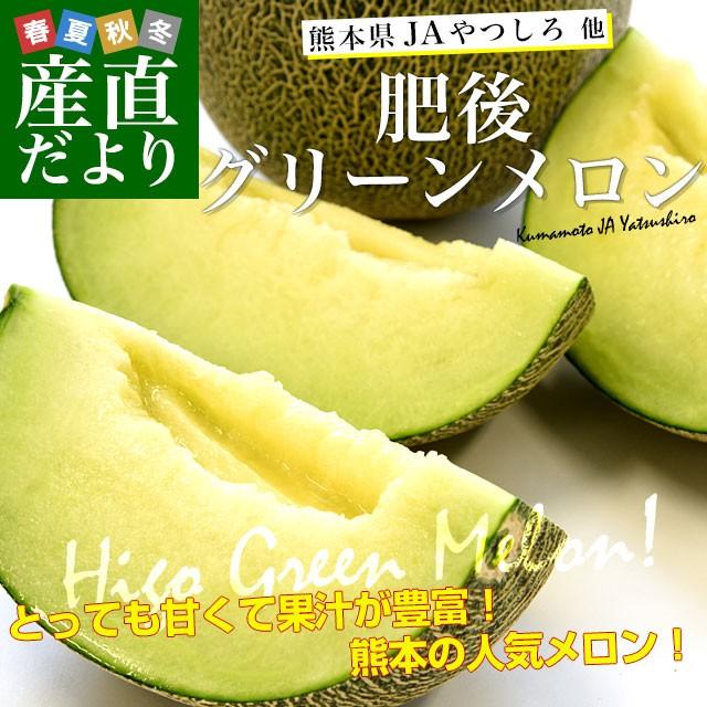 熊本県産 JAやつしろ他 肥後グリーンメロン 優品以上 超盛り 8キロ (約2キロ×4玉) めろん 市場スポット 送料無料 産直だより