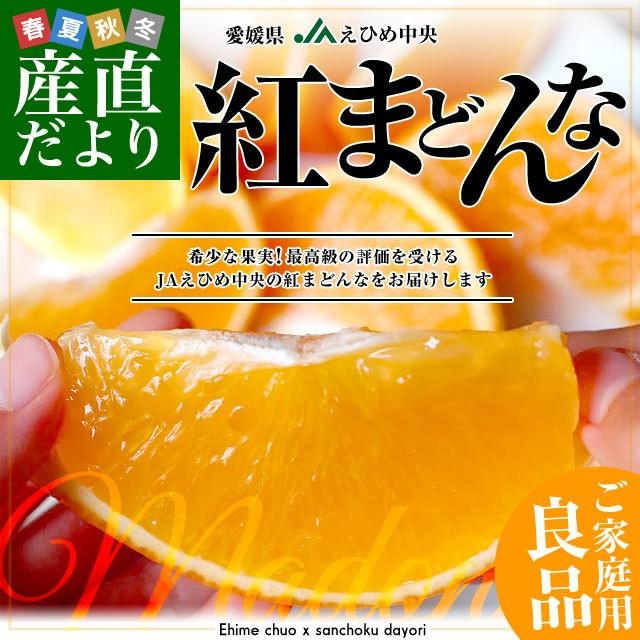 愛媛県より産地直送 JAえひめ中央 紅まどんな 良品 3LからLサイズ 約3キロ(10玉から15玉) 紅マドンナ オレンジ 産直だより