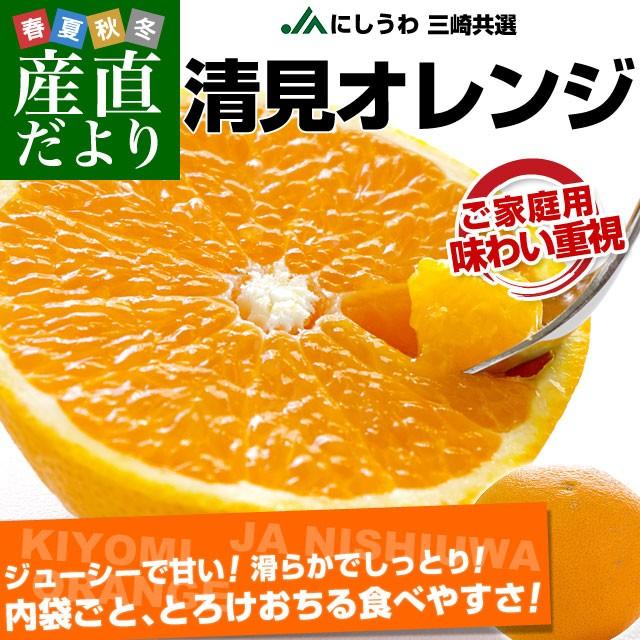 愛媛県より産地直送 JAにしうわ三崎共選 清見オレンジ ご家庭用 2LからMサイズ 5キロ (25玉から35玉前後) 送料無料
