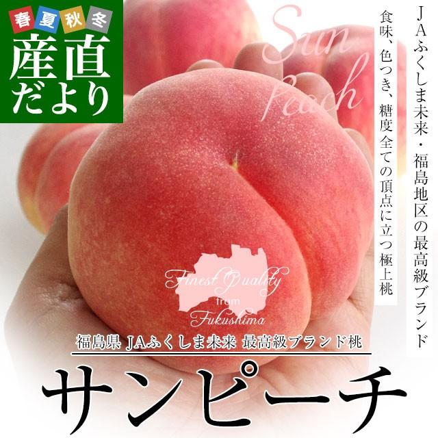 福島県より産地直送 JAふくしま未来 最高級ブランド桃「サンピーチ」 3キロ(10から12玉) 桃 もも 送料無料 夏ギフト お中元 産直だより