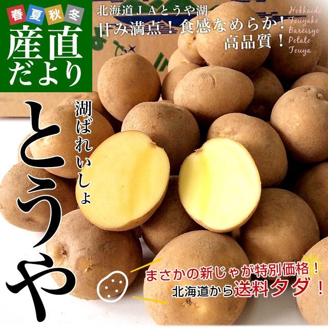 北海道から産地直送 JAとうや湖 じゃがいも 湖ばれいしょ「とうや」 Lサイズ 10キロ 馬鈴薯 ジャガイモ 送料無料 産直だより