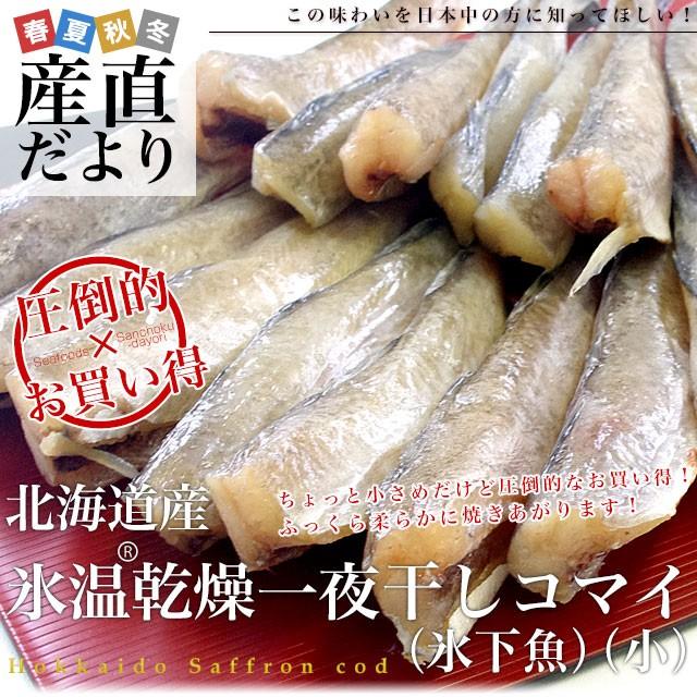 北海道産 コマイの氷温乾燥一夜干し 約1キロ (200g×5袋) 産直だより 北海道直送 氷下魚 生干し 送料無料
