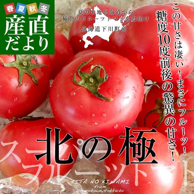 北海道より産地直送 下川町のスーパーフルーツトマト <北の極> 秀品 約800g LからSサイズ(8玉から15玉)送料無料 とまと 産直だより