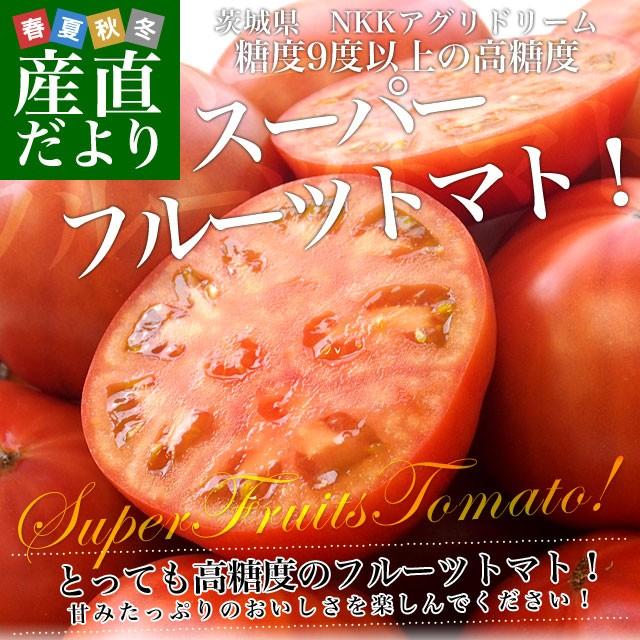 茨城県より産地直送 NKKアグリドリーム スーパーフルーツトマト 9度+ A品 約1キロ(8玉から16玉) 送料無料 高糖度トマト NKKトマト 産直