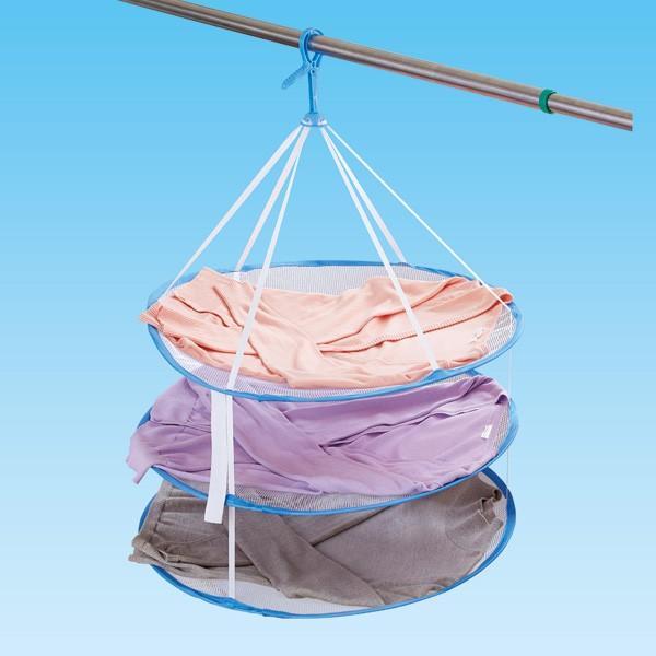 洗濯ハンガー かんたんニット干しネット 3段タイプ ( 平干しネット 平干しハンガー 3段 平干し 平干し用 ネット ハンガー 平干し用ネッ