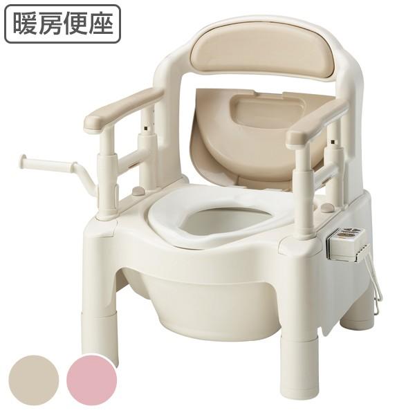 ポータブルトイレ 暖房便座 ノーマルタイプ 介護用 ちびくまくんシリーズ 日本製 ( トイレ 介護 ポータブル 腰掛便座 洋式 樹脂製 洋式