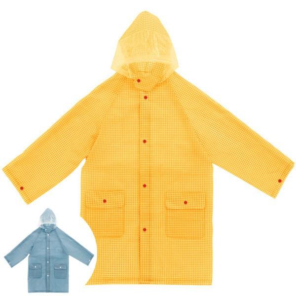 レインコート カッパ こども用 キッズレインコート 着丈70cm ギンガムチェック ( レインウェア 雨カッパ 雨具 Raincoat かっぱ レ
