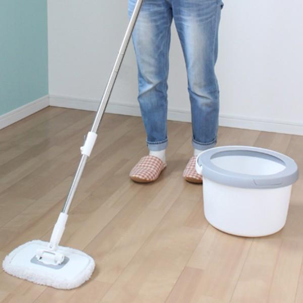 回転モップ トルネードプラス 角型 水拭き モップ バケツ 床掃除 ( 掃除 伸縮柄 洗浄 脱水 回転 汚れ 落とす 床 フローリング 畳 玄関