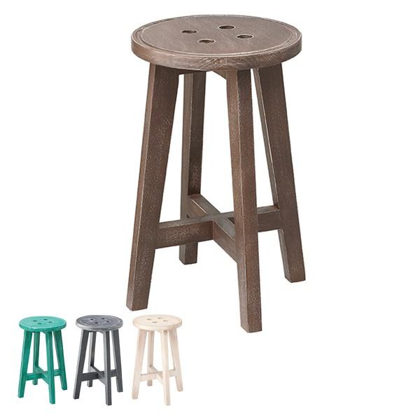 スツール 高さ50cm 椅子 木製 天然木 イス 腰掛 アンティーク調 ( いす チェアー 木製スツール 腰掛け 丸椅子 玄関 リビング 簡易 来客