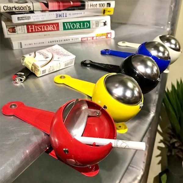 灰皿 ダルトン DULTON ウィンドプルーフ クリップアッシュトレイ ( フタ付 クリップ 屋外 ふた 蓋 付き 喫煙具 おしゃれ 小物 )
