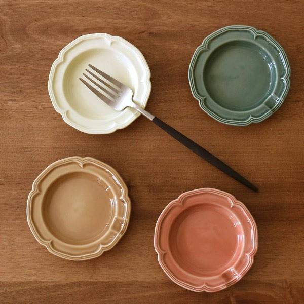 プレート 10cm S ファムプレート Fam Plate 皿 食器 洋食器 陶器 日本製 ( 電子レンジ対応 食洗機対応 小皿 箸置き リム皿 お皿 輪花皿