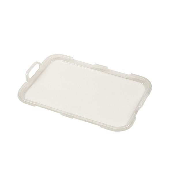 ふた ハッピーバケット専用 角型 M フタ 蓋 ( 収納 ケース かご ボックス 洗える 角 専用蓋 ハンドル付き 持ち手 籠 積み重ね スタッキ