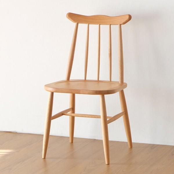 ダイニングチェア 椅子 天然木 アルダー材 NORN 座面高約42cm ( 送料無料 ダイニングチェアー チェア イス 完成品 いす チェアー 食卓椅