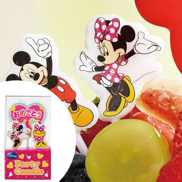 ディズニーキャンドル パーティーキャンドル ミニーマウス ( ケーキキャンドル ろうそく ロウソク ミニ− キャラクター おめでとう ハ