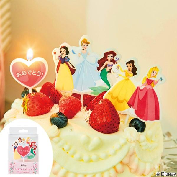 パーティーキャンドル ディズニープリンセス ( キャンドル ローソク ろうそく ケーキキャンドル ケーキ用 キャラクター ディズニー disn