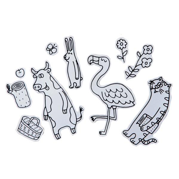 【最大1000円OFFクーポン配布中】 シール 塗り絵 ペインタホリック シール モリ ( ぬりえ ぬり絵 こども 子ども 子供 大人 シール シー