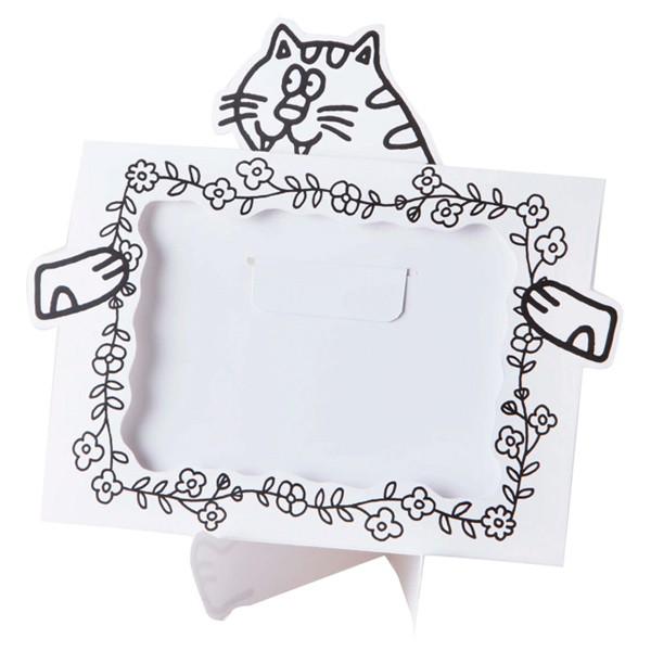 フォトスタンド ペインタホリック トラネコ ( 写真たて 紙製 塗り絵 ぬりえ ぬり絵 こども 子ども 子供 大人 写真 卓上 飾る 動物 アニ