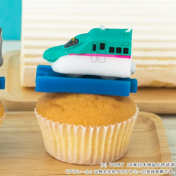 キャンドル パーティーキャンドル プラレールキャンドル E5系新幹線はやぶさ ( ローソク ろうそく ケーキ用 ケーキキャンドル プラレー