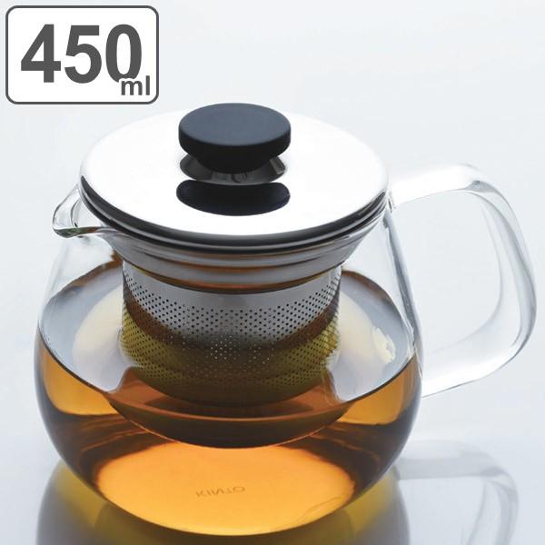 キントー KINTO ティーポット UNITEA ユニティ 500ml S 耐熱ガラス製 ステンレス蓋 ( 紅茶ポット 急須 ガラスポット ポット ガ