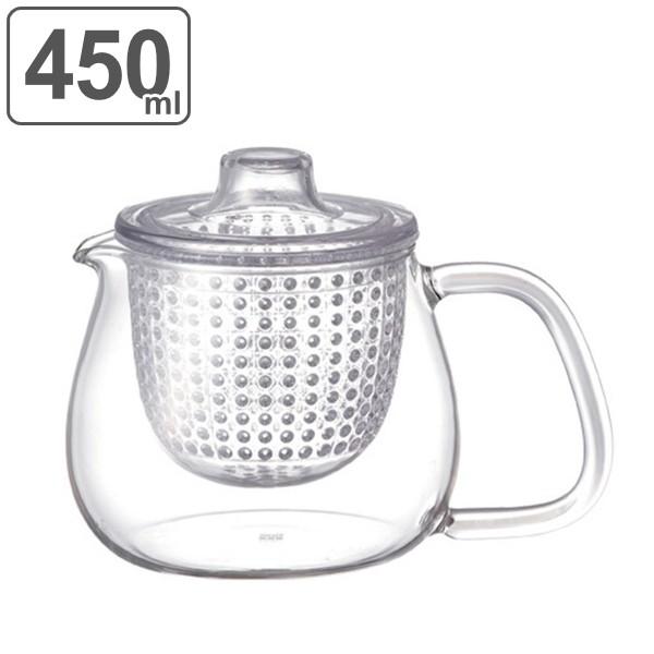 キントー KINTO ティーポット UNITEA ユニティ 500ml S 耐熱ガラス製 プラスチック蓋 ( 紅茶ポット 急須 ガラスポット ポット