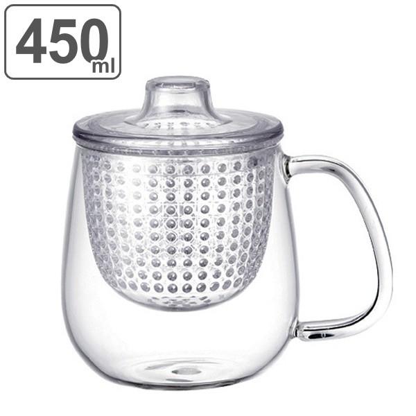 キントー KINTO ティーカップ UNIMUG ユニティ M 450ml ガラス ( 紅茶ポット 急須 ガラスポット ポット ガラス 食洗機対応 茶