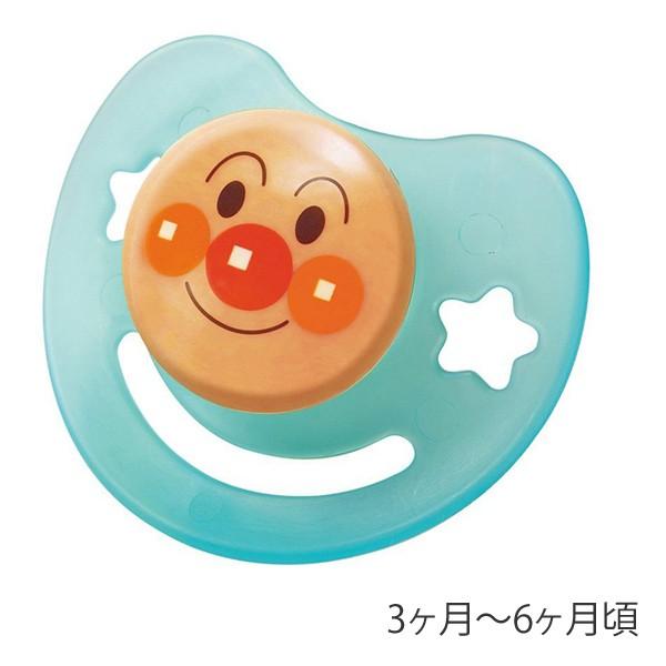 おしゃぶり アンパンマン M シリコン乳首 日本製 キャラクター キャップ付き ( ベビーグッズ 赤ちゃん用品 あんぱんまん ベビー 赤