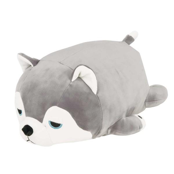 クッション 動物 ボルスター マシュマロアニマル 犬 ミント ( ぬいぐるみ 抱き枕 抱きまくら ヌイグルミ イヌ シベリアンハスキー ハス