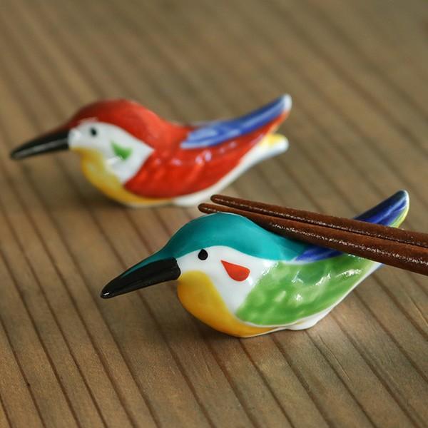 箸置き おしゃれ カワセミ 正月 はしおき 磁器 食器 ( カトラリーレスト 鳥 箸置 かわせみ 翡翠 箸おき 箸やすめ 川蝉 箸休め カトラリ