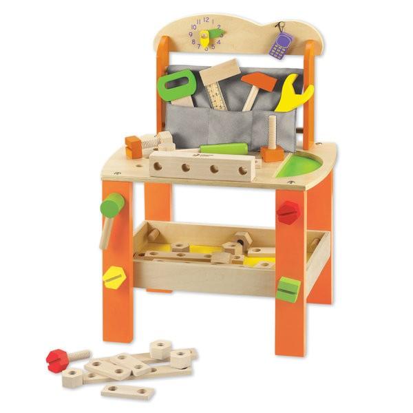工具セット 木製 ツール 知育玩具 おもちゃ Classic クラシック ( 工具 台 木 玩具 出産祝い おすすめ 子供 知育 ごっこ遊び ツールセッ