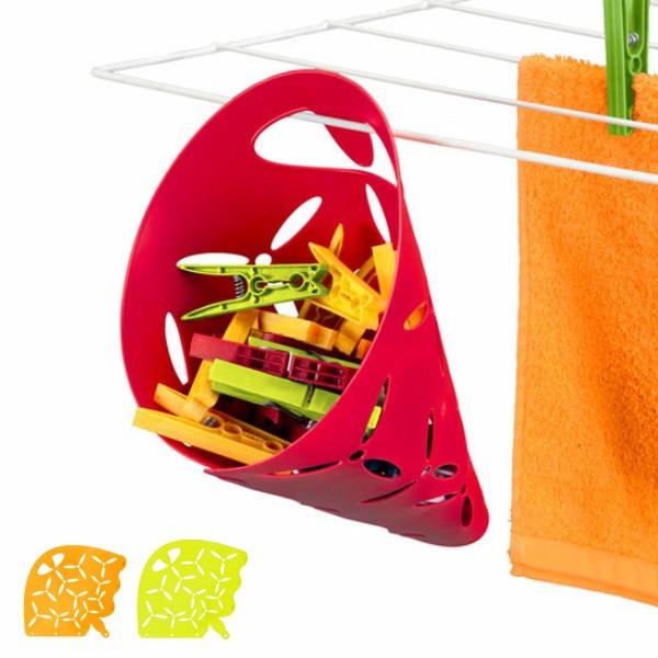ピンチバスケット Metaltex 洗濯ばさみ入れ 洗濯ばさみ 入れ物 ( ピンチかご 洗濯ピンチ用かご 洗濯バサミ かご フック付き 掛けられる