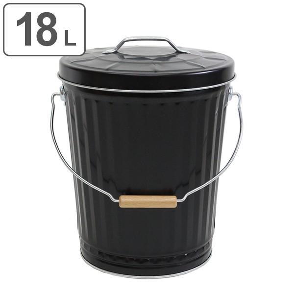 灰入れバケツ 18L 二重底 灰入れ ふた付き 暖炉 ゴミ箱 obaketsu オバケツ ( バケツ 灰 薪入れ 灰取り フタ付き 灰バケツ ペレット 蓋付