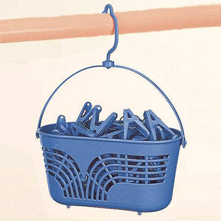 ピンチかご 洗濯ピンチ用カゴ フック付き ( 洗濯ばさみ バスケット ピンチカゴ 洗濯ピンチ かご 洗濯小物 収納 )