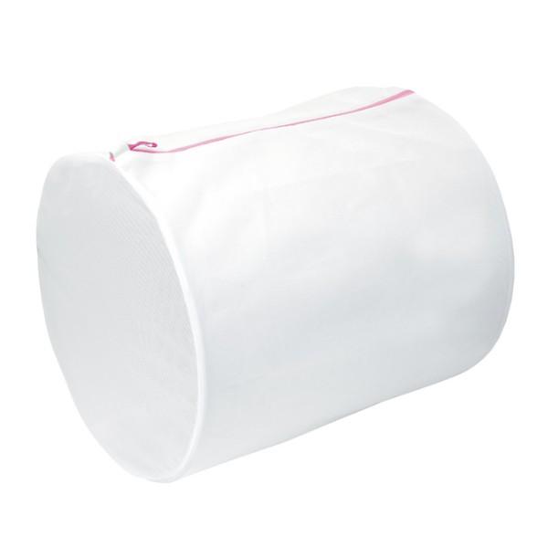 洗濯ネット 40×55cm ML 筒型ガードネット 筒型 大 ( ランドリーネット 洗濯用ネット 俵型 コインランドリー 丸洗い ファスナー 大容量